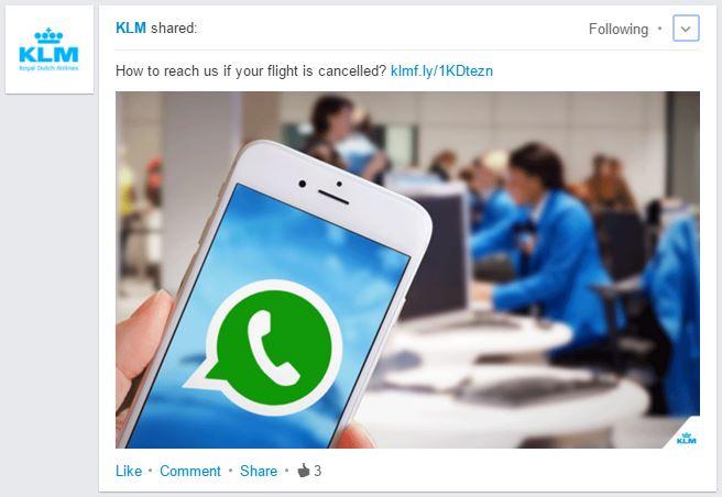 klm whatsapp